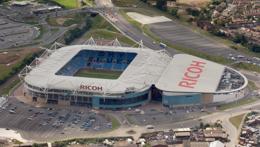 COVENTRY, ENGLAND, JULY 18. Aerial photograph the Ricoh Arena, Home of Coventry City Football Club on July 18, 2007. (Photograph by David Goddard/Getty Images