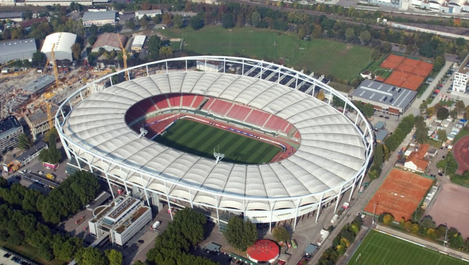 STUTTGART, Germany:  Aerial view of Stuttgart's Gottlieb-Daimler stadium taken 07 October 2005. The Gottlieb-Daimler stadium is one of the 12 stadia in Germany that will host FIFA Football World Cup Germany 2006.  AFP PHOTO DDP/MICHAEL LATZ     GERMANY OUT  (Photo credit should read MICHAEL LATZ/AFP/Getty Images)