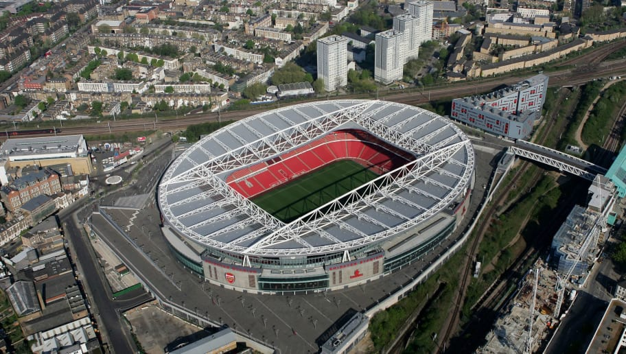 LONDON - APRIL 20:  An aerial view of the Emirates Stadium, home of Arsenal football club on April 20, 2007 in Ashburton Grove, Holloway, north London, England.  (Photo by Mike Hewitt/Getty Images)