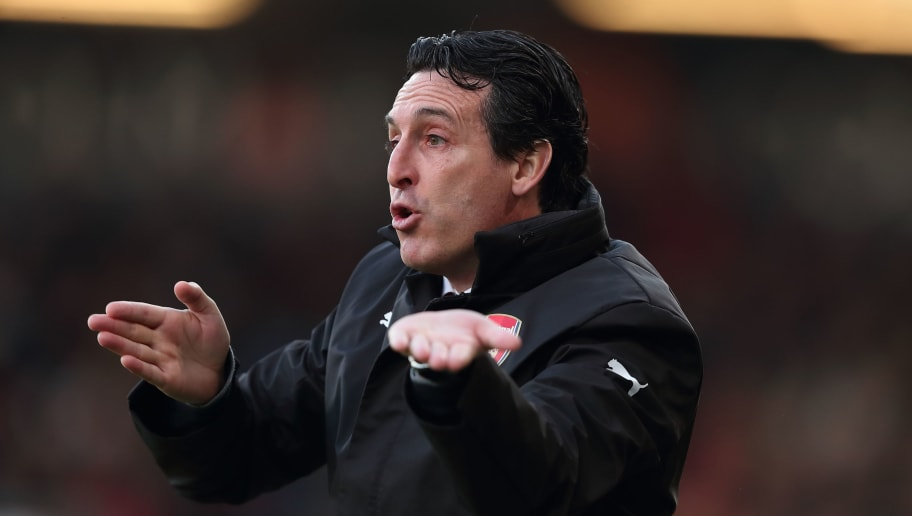 BOURNEMOUTH, ENGLAND - NOVEMBER 25: Arsenal manager \ Head coach Unai Emery during the Premier League match between AFC Bournemouth and Arsenal FC at Vitality Stadium on November 25, 2018 in Bournemouth, United Kingdom. (Photo by James Williamson - AMA/Getty Images)