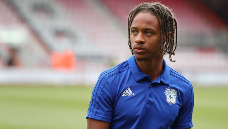 BOURNEMOUTH, ENGLAND - AUGUST 11: Bobby Reid of Cardiff City during the Premier League match between AFC Bournemouth and Cardiff City at Vitality Stadium on August 11, 2018 in Bournemouth, United Kingdom. (Photo by James Williamson - AMA/Getty Images)