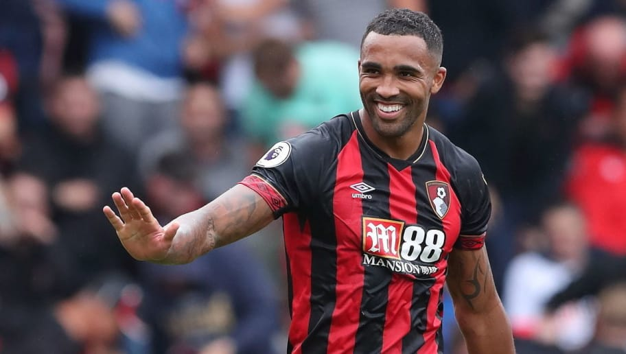 BOURNEMOUTH, ENGLAND - AUGUST 11: Callum Wilson of Bournemouth during the Premier League match between AFC Bournemouth and Cardiff City at Vitality Stadium on August 11, 2018 in Bournemouth, United Kingdom. (Photo by James Williamson - AMA/Getty Images)
