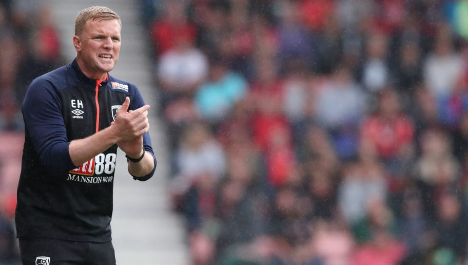 BOURNEMOUTH, ENGLAND - AUGUST 11: Bournemouth Manager \ Head Coach Eddie Howe during the Premier League match between AFC Bournemouth and Cardiff City at Vitality Stadium on August 11, 2018 in Bournemouth, United Kingdom. (Photo by James Williamson - AMA/Getty Images)