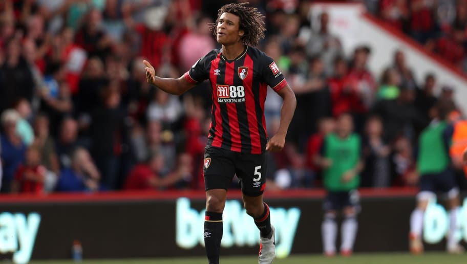 BOURNEMOUTH, ENGLAND - AUGUST 25:  Nathan Ake of AFC Bournemouth celebrates after scoring his team's second goal during the Premier League match between AFC Bournemouth and Everton FC at Vitality Stadium on August 25, 2018 in Bournemouth, United Kingdom.  (Photo by Dan Istitene/Getty Images)