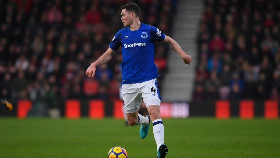 BOURNEMOUTH, ENGLAND - DECEMBER 30:  Everton player Michael Keane in action during the Premier League match between AFC Bournemouth and Everton at Vitality Stadium on December 30, 2017 in Bournemouth, England.  (Photo by Stu Forster/Getty Images)
