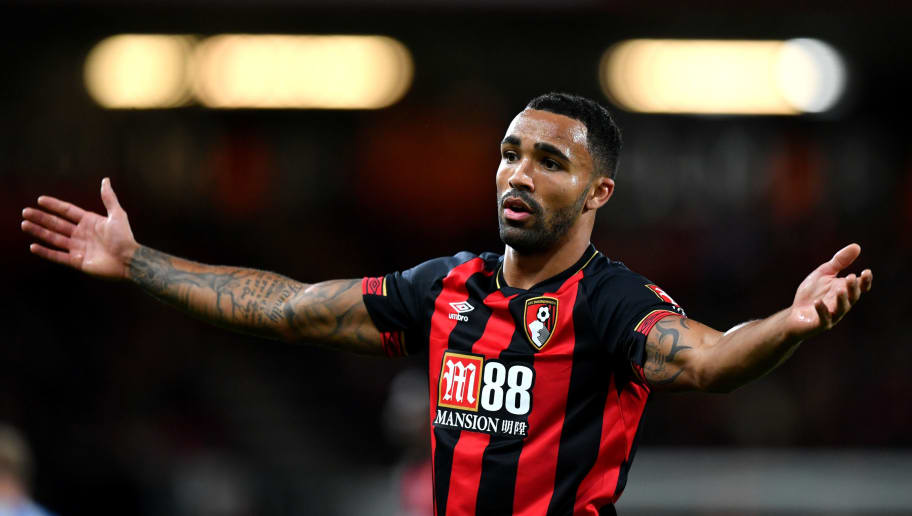 BOURNEMOUTH, ENGLAND - DECEMBER 04:  Callum Wilson of AFC Bournemouth reacts during the Premier League match between AFC Bournemouth and Huddersfield Town at Vitality Stadium on December 4, 2018 in Bournemouth, United Kingdom.  (Photo by Dan Mullan/Getty Images)