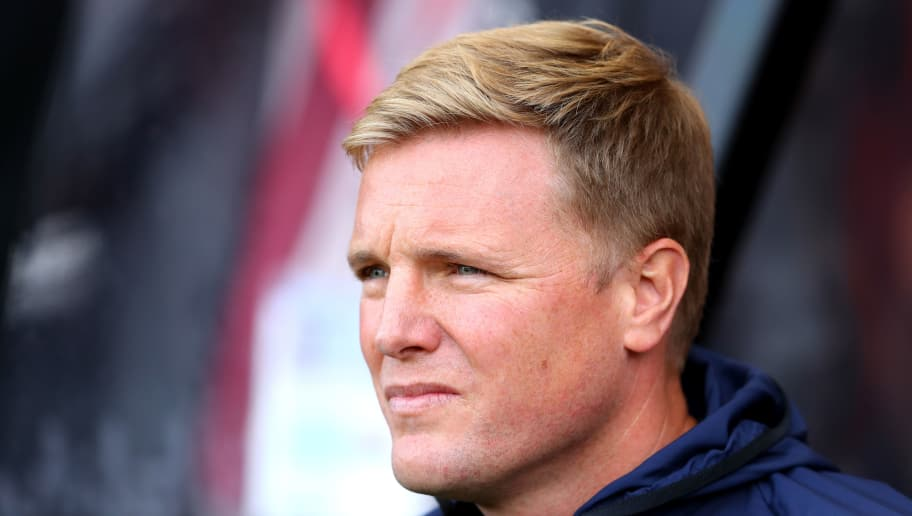 BOURNEMOUTH, ENGLAND - SEPTEMBER 15:  Eddie Howe, Manager of AFC Bournemouth looks on ahead of the Premier League match between AFC Bournemouth and Leicester City at Vitality Stadium on September 15, 2018 in Bournemouth, United Kingdom.  (Photo by Warren Little/Getty Images)