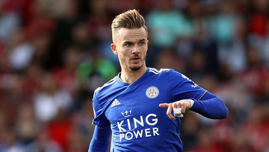 BOURNEMOUTH, ENGLAND - SEPTEMBER 15:  James Maddison of Leicester City in action during the Premier League match between AFC Bournemouth and Leicester City at Vitality Stadium on September 15, 2018 in Bournemouth, United Kingdom.  (Photo by Bryn Lennon/Getty Images,)