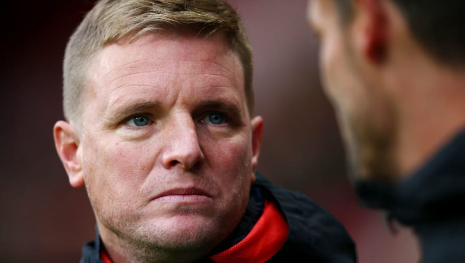 BOURNEMOUTH, ENGLAND - DECEMBER 08: Eddie Howe, Manager of AFC Bournemout  looks on prior to the Premier League match between AFC Bournemouth and Liverpool FC at Vitality Stadium on December 8, 2018 in Bournemouth, United Kingdom.  (Photo by Dan Istitene/Getty Images)