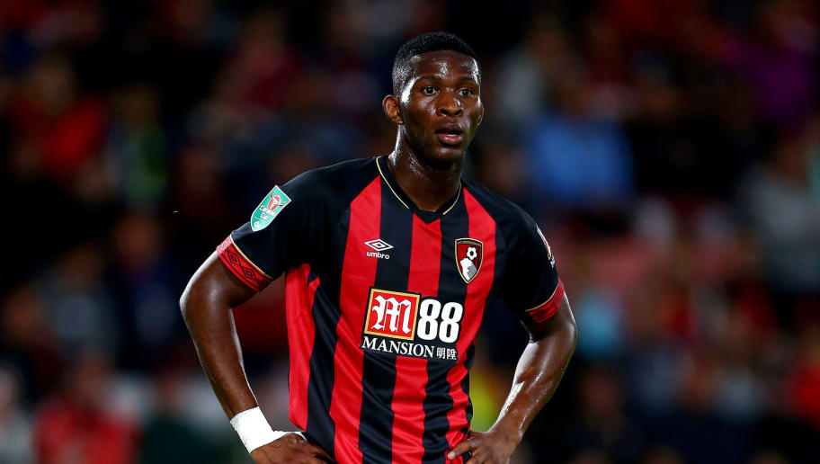 BOURNEMOUTH, ENGLAND - AUGUST 28:  Jefferson Lerma of AFC Bournemouth looks on during the Carabao Cup Second Round match between AFC Bournemouth and Milton Keynes Dons at Goldsands Stadium on August 28, 2018 in Bournemouth, England.  (Photo by Jordan Mansfield/Getty Images)