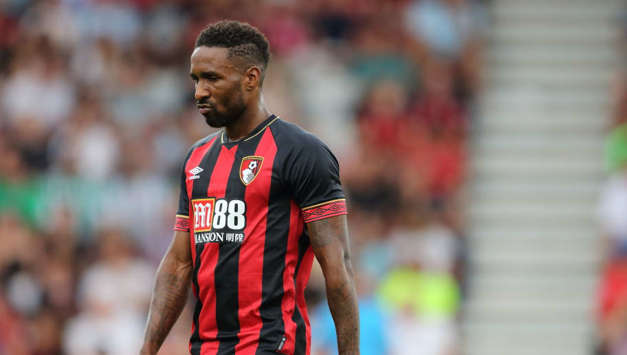 BOURNEMOUTH, ENGLAND - AUGUST 03: Jermain Defoe of Bournemouth during the Pre-Season Friendly match between AFC Bournemouth and Real Betis at Vitality Stadium on August 3, 2018 in Bournemouth, England. (Photo by James Williamson - AMA/Getty Images)