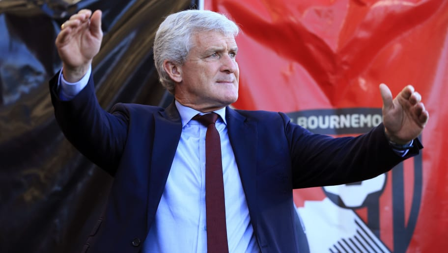 BOURNEMOUTH, ENGLAND - OCTOBER 20:  Mark Hughes manager of Southampton during the Premier League match between AFC Bournemouth and Southampton FC at Vitality Stadium on October 20, 2018 in Bournemouth, United Kingdom. (Photo by Marc Atkins/Getty Images)