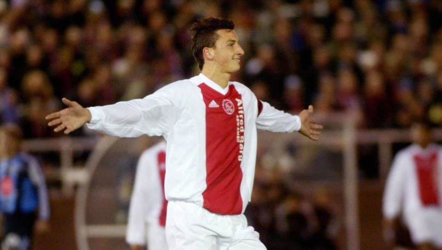 Ajax player Zlatan Ibrahimovic of Sweden
