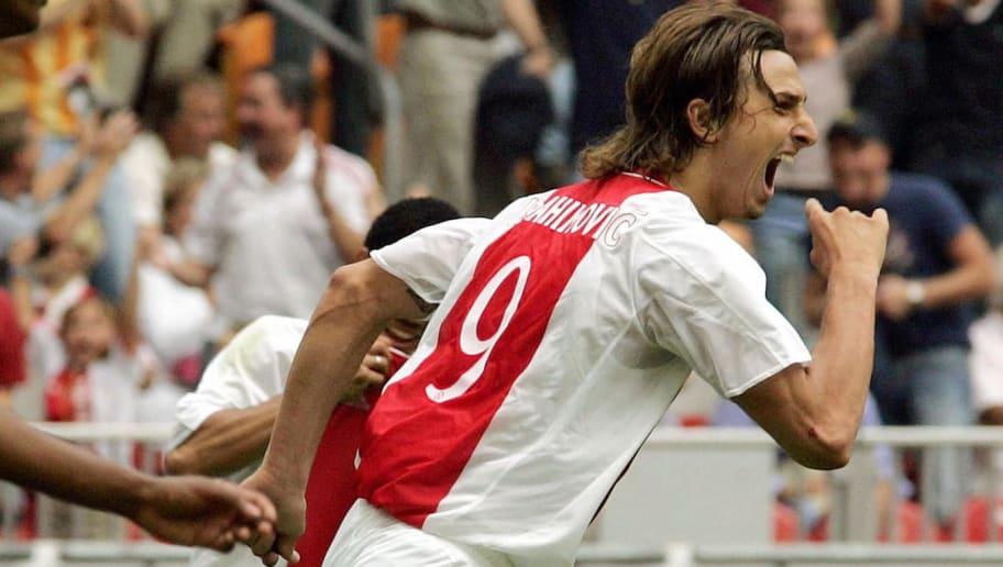 Ajax player Zlatan Ibrahimovic (R) celeb