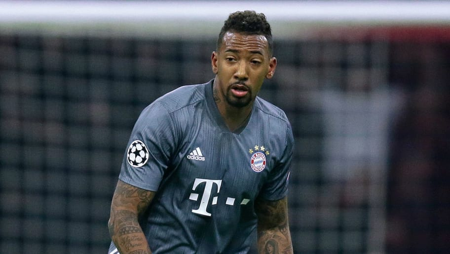 AMSTERDAM, NETHERLANDS - DECEMBER 12: Jerome Boateng of Bayern Munchen  during the UEFA Champions League  match between Ajax v Bayern Munchen at the Johan Cruijff Arena on December 12, 2018 in Amsterdam Netherlands (Photo by Peter Lous/Soccrates/Getty Images)