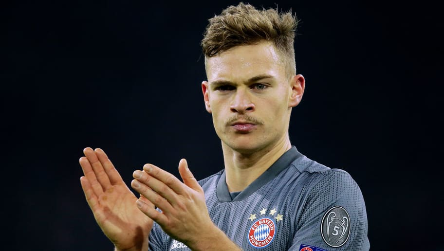 AMSTERDAM, NETHERLANDS - DECEMBER 12: Joshua Kimmich of Bayern Munchen  during the UEFA Champions League  match between Ajax v Bayern Munchen at the Johan Cruijff Arena on December 12, 2018 in Amsterdam Netherlands (Photo by Peter Lous/Soccrates/Getty Images)