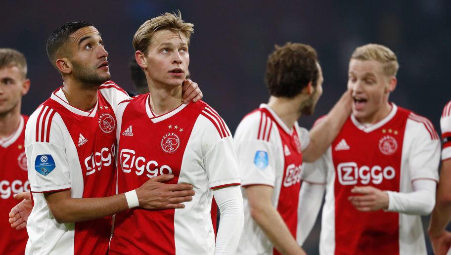 Daley Blind,Donny Van De Beek,Frenkie De Jong,Hakim Ziyech
