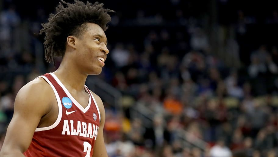PITTSBURGH, PA - MARCH 15:  Collin Sexton #2 of the Alabama Crimson Tide reacts against the Virginia Tech Hokies during the second half of the game in the first round of the 2018 NCAA Men's Basketball Tournament at PPG PAINTS Arena on March 15, 2018 in Pittsburgh, Pennsylvania.  (Photo by Rob Carr/Getty Images)