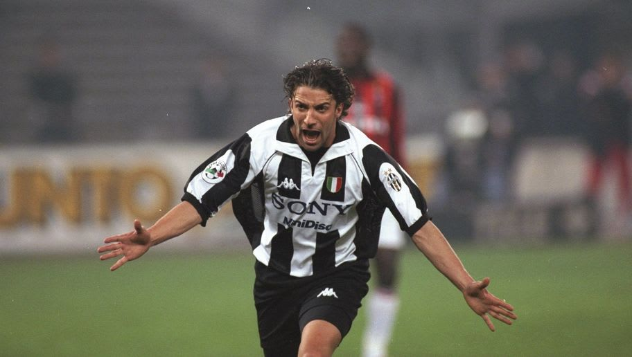 Alessandro Del Piero celebrates scoring a goal