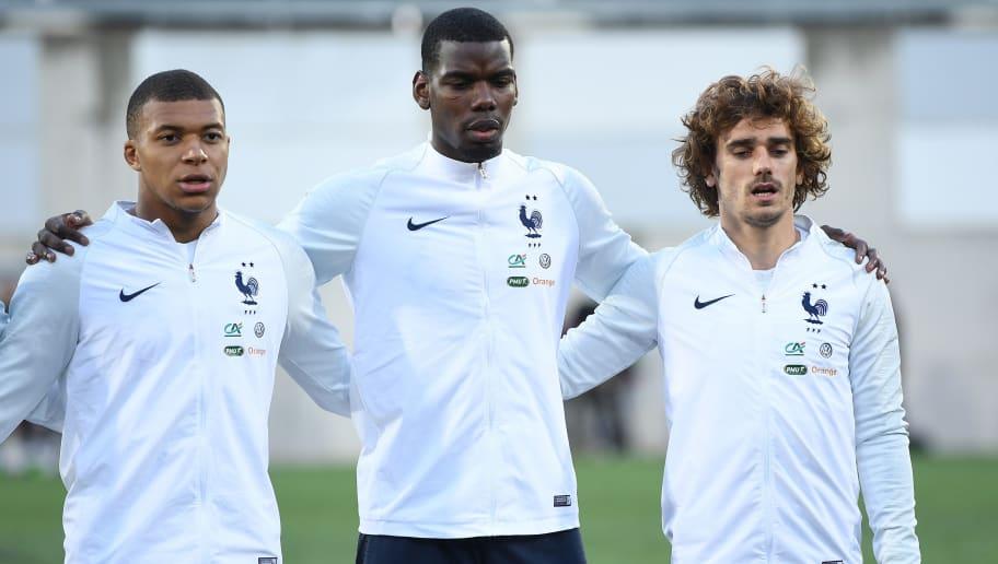 Kylian Mbappe,Paul Pogba,Antoine Griezmann