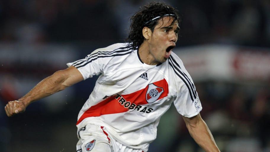 Argentina's River Plate forward Radamel