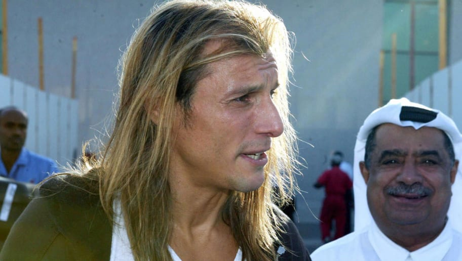 Argentinian soccer star Claudio Caniggia