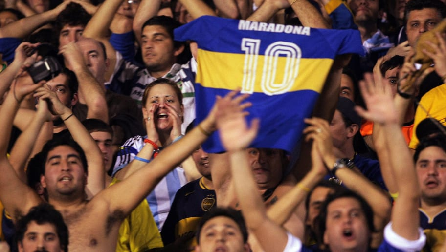 Argentinians fans of Boca Juniors suppor