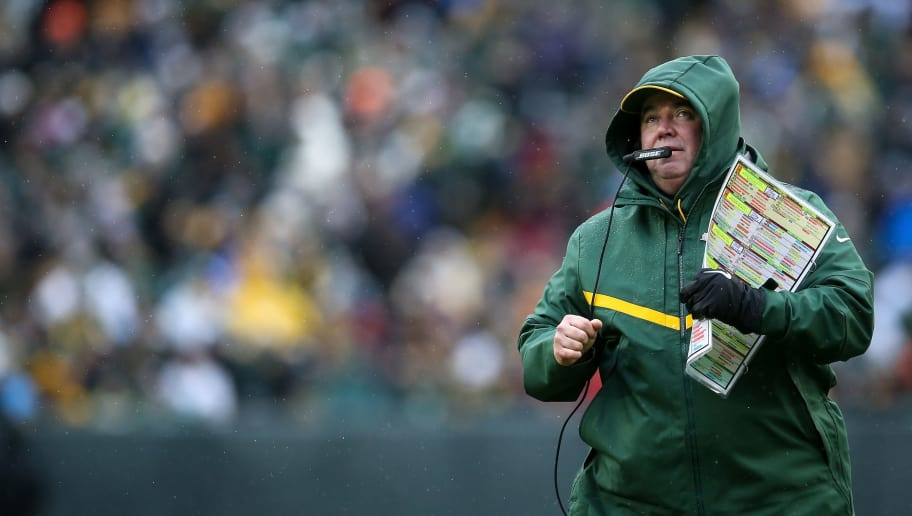 GREEN BAY, WISCONSIN - DECEMBER 02:  Head coach Mike McCarthy of the Green Bay Packers looks on from the sideline in the second quarter against the Arizona Cardinals at Lambeau Field on December 02, 2018 in Green Bay, Wisconsin. (Photo by Dylan Buell/Getty Images)