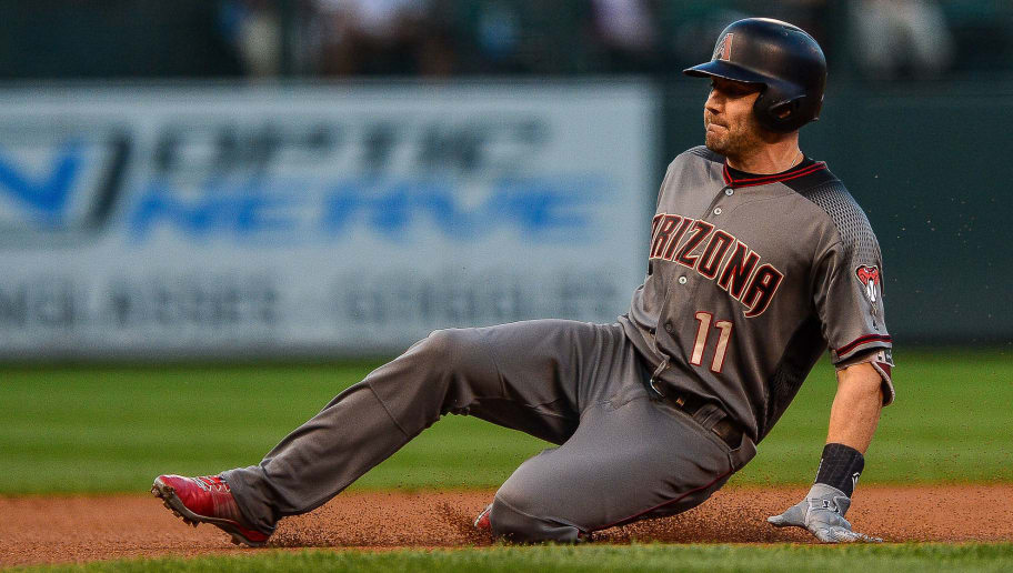 DENVER, CO - SEPTEMBER 10:  A.J. Pollock #11 of the Arizona Diamondbacks slides into third base with a first inning triple against the Colorado Rockies at Coors Field on September 10, 2018 in Denver, Colorado.  (Photo by Dustin Bradford/Getty Images)