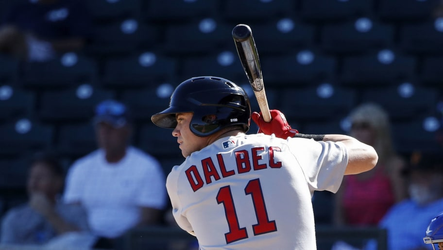 SURPRISE, AZ - OCTOBER 18: Bobby Dalbec #11 of the Mesa Solar Sox and Boston Red Sox in action during the 2018 Arizona Fall League on October 18, 2018 at Surprise Stadium in Surprise, Arizona. (Photo by Joe Robbins/Getty Images)
