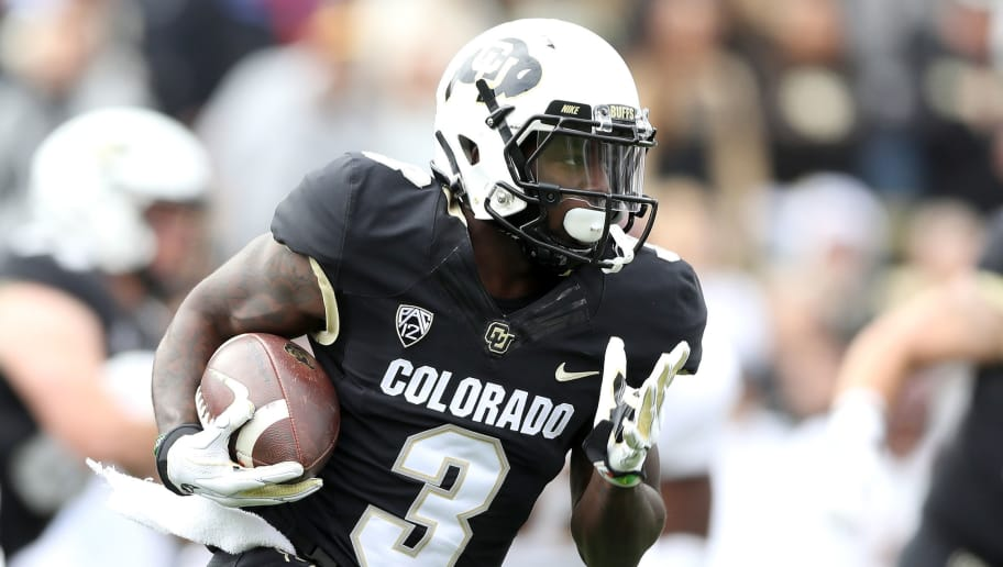BOULDER, CO - OCTOBER 06:  K.D. Nixon #2 of the Colorado Buffaloes runs with the ball in the first quarter against the Arizona State Sun Devils at Folsom Field on October 6, 2018 in Boulder, Colorado.  (Photo by Matthew Stockman/Getty Images)