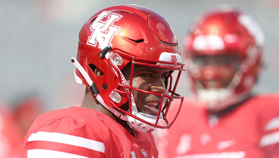 HOUSTON, TX - SEPTEMBER 8: Ed Oliver #10 of the Houston Cougars warms up before playing against the Arizona Wildcats at TDECU Stadium on September 8, 2018 in Houston, Texas.  (Photo by Thomas B. Shea/Getty Images)