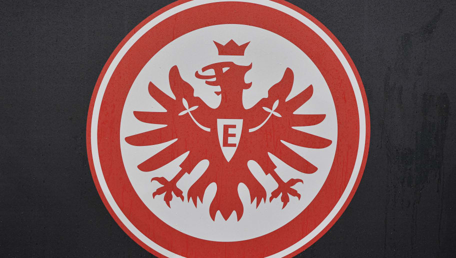 Logo of Eintracht Frankfurt is seen