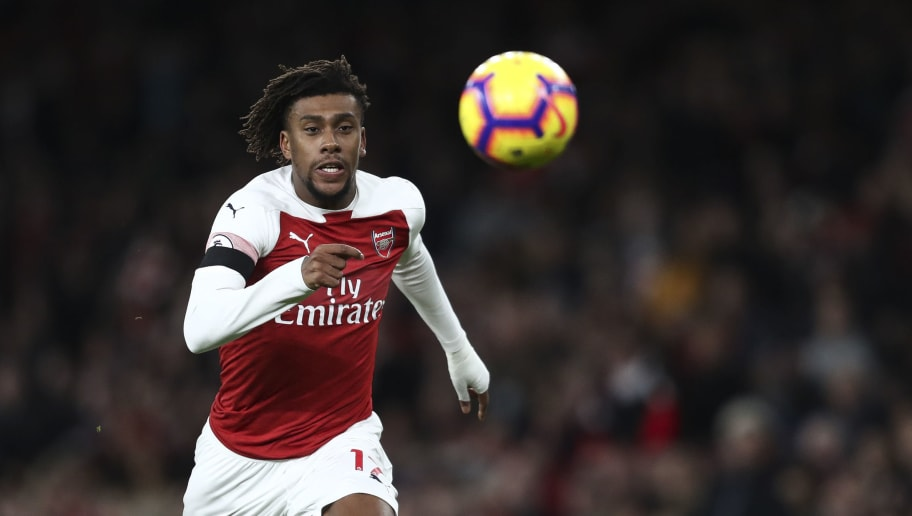 LONDON, ENGLAND - JANUARY 01: Alex Iwobi of Arsenal during the Premier League match between Arsenal FC and Fulham FC at Emirates Stadium on January 1, 2019 in London, United Kingdom. (Photo by James Baylis - AMA/Getty Images)
