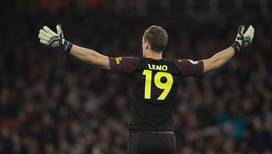 LONDON, ENGLAND - OCTOBER 22: Bernd Leno of Arsenal during the Premier League match between Arsenal FC and Leicester City at the Emirates Stadium on October 22, 2018 in London, United Kingdom. (Photo by Visionhaus/Getty Images)