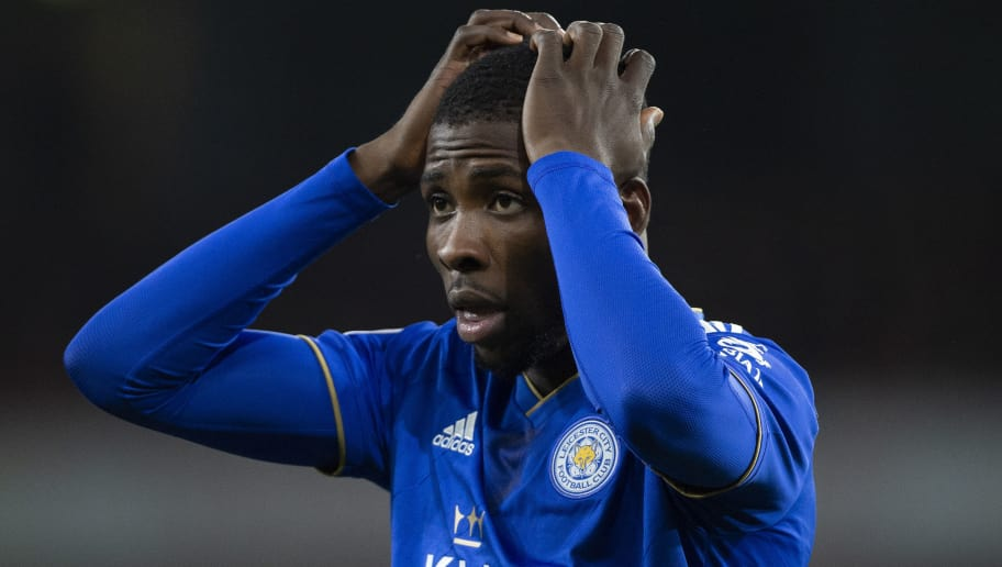 LONDON, ENGLAND - OCTOBER 22: Kelechi Iheanacho of Leicester City during the Premier League match between Arsenal FC and Leicester City at the Emirates Stadium on October 22, 2018 in London, United Kingdom. (Photo by Visionhaus/Getty Images)
