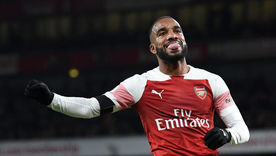 LONDON, ENGLAND - NOVEMBER 03:  Alexandre Lacazette of Arsenal reacts during the Premier League match between Arsenal FC and Liverpool FC at Emirates Stadium on November 3, 2018 in London, United Kingdom.  (Photo by Michael Regan/Getty Images)