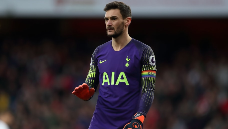 LONDON, ENGLAND - DECEMBER 02: Hugo Lloris of Tottenham during the Premier League match between Arsenal FC and Tottenham Hotspur at Emirates Stadium on December 2, 2018 in London, United Kingdom. (Photo by James Williamson - AMA/Getty Images)