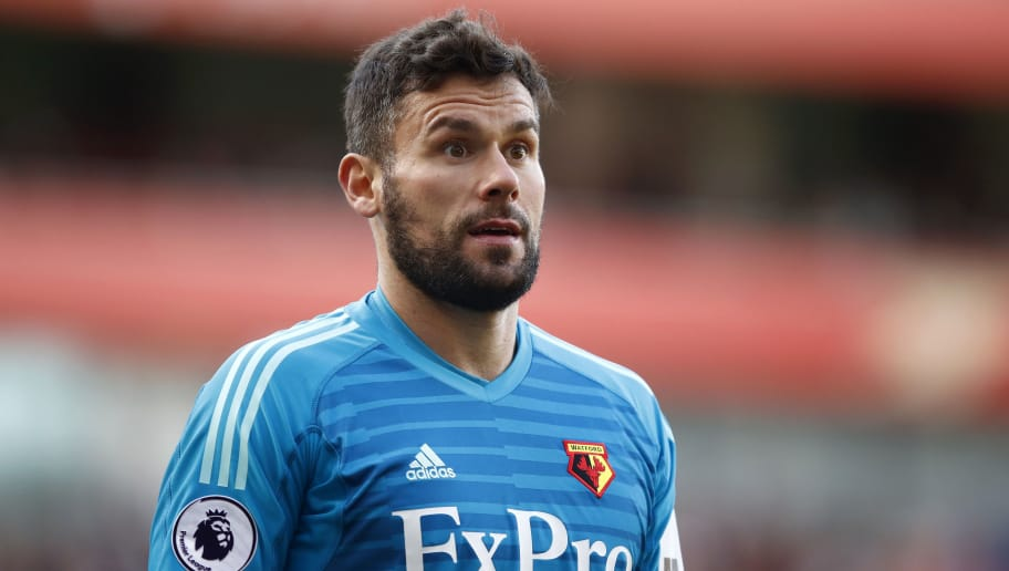 LONDON, ENGLAND - SEPTEMBER 29:  Ben Foster of Watford looks on during the Premier League match between Arsenal FC and Watford FC at Emirates Stadium on September 29, 2018 in London, United Kingdom.  (Photo by Julian Finney/Getty Images)