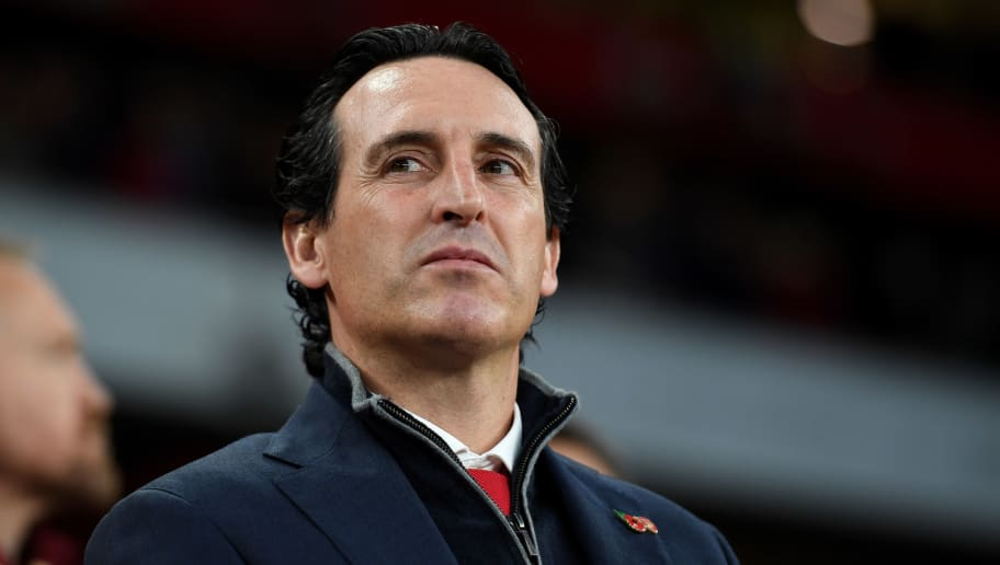 LONDON, ENGLAND - NOVEMBER 11: Unai Emery the head coach / manager of Arsenal during the Premier League match between Arsenal FC and Wolverhampton Wanderers at Emirates Stadium on November 11, 2018 in London, United Kingdom. (Photo by Sam Bagnall - AMA/Getty Images)