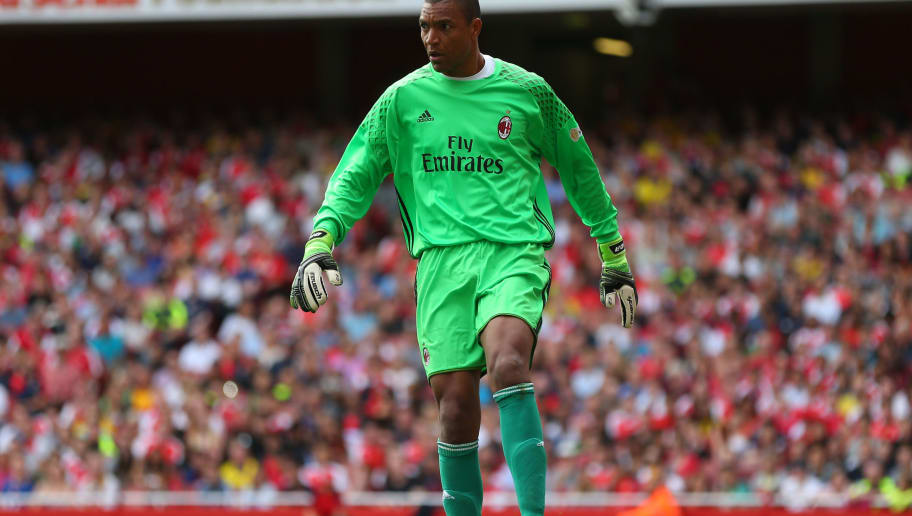 LONDON, ENGLAND - SEPTEMBER 03: Dida of Milan Glorie during the Arsenal Foundation Charity match between Arsenal Legends and Milan Glorie at Emirates Stadium on September 3, 2016 in London, England. (Photo by Catherine Ivill - AMA/Getty Images)