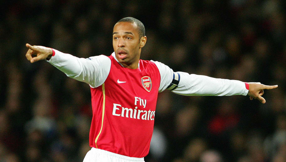 Arsenal's Captain, Thierry Henry gesture
