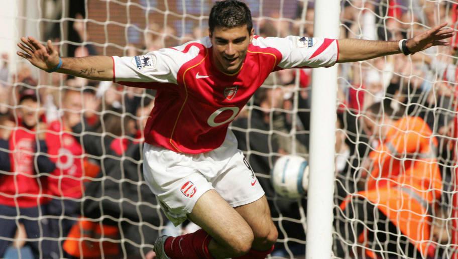 Arsenal's Jose Antonio Reyes celebrates