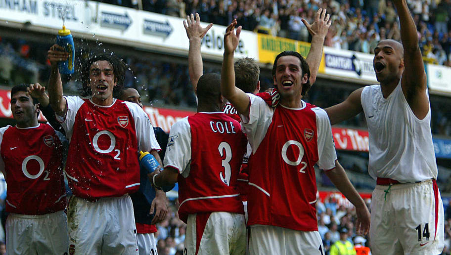 Arsenal's L to R facing camera Jose Anto