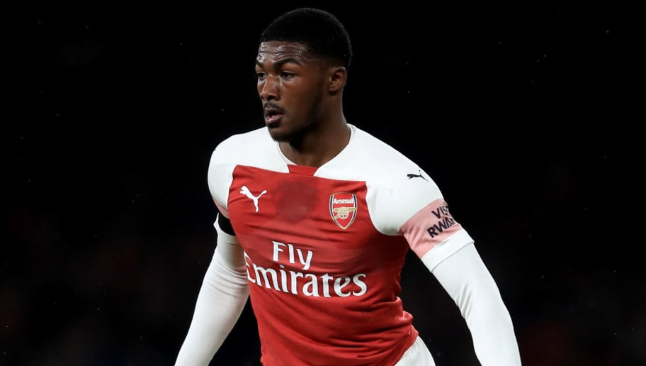 LONDON, ENGLAND - OCTOBER 31: Ainsley Maitland-Niles of Arsenal during the Carabao Cup Fourth Round match between Arsenal and Blackpool at Emirates Stadium on October 31, 2018 in London, England. (Photo by Marc Atkins/Getty Images)