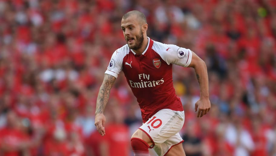 LONDON, ENGLAND - MAY 06:  Jack Wilshere of Arsenal in action during the Premier League match between Arsenal and Burnley at Emirates Stadium on May 6, 2018 in London, England.  (Photo by Mike Hewitt/Getty Images)