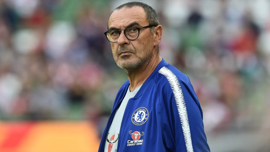 DUBLIN, IRELAND - AUGUST 01: Chelsea manager Maurizio Sarri during the Pre-season friendly International Champions Cup game between Arsenal and Chelsea at Aviva stadium on August 1, 2018 in Dublin, Ireland. (Photo by Charles McQuillan/Getty Images)