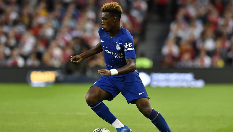DUBLIN, IRELAND - AUGUST 01: Callum Hudson-Odoi of Chelsea during the Pre-season friendly International Champions Cup game between Arsenal and Chelsea at Aviva stadium on August 1, 2018 in Dublin, Ireland. (Photo by Charles McQuillan/Getty Images)