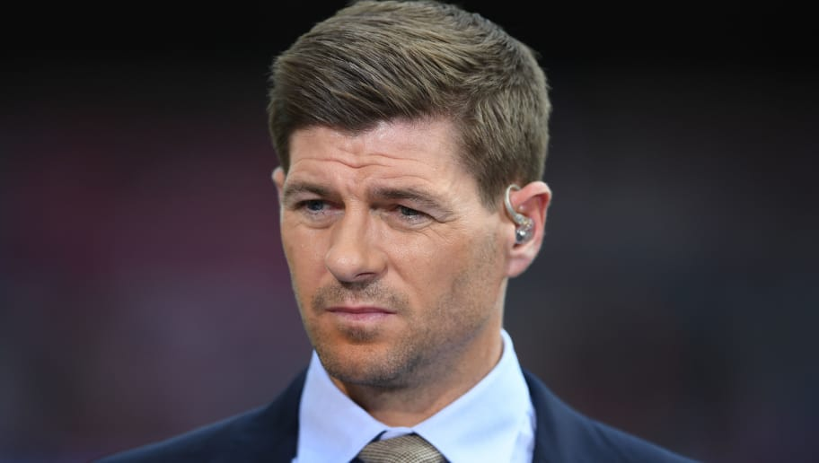 LONDON, ENGLAND - MAY 27:  Steven Gerrard of BT Sport looks on during the Emirates FA Cup Final between Arsenal and Chelsea at Wembley Stadium on May 27, 2017 in London, England.  (Photo by Laurence Griffiths/Getty Images)