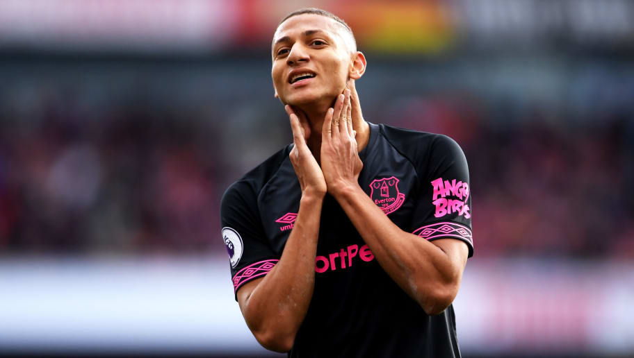 LONDON, ENGLAND - SEPTEMBER 23:  Richarlison of Everton reacts during the Premier League match between Arsenal FC and Everton FC at Emirates Stadium on September 23, 2018 in London, United Kingdom.  (Photo by Laurence Griffiths/Getty Images)